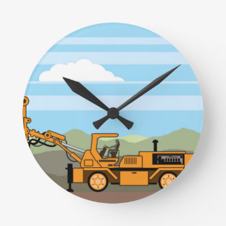 Drilling Rig Tractor Vehicle Machinery Round Clock