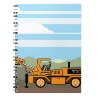 Drilling Rig Tractor Vehicle Machinery Spiral Notebook