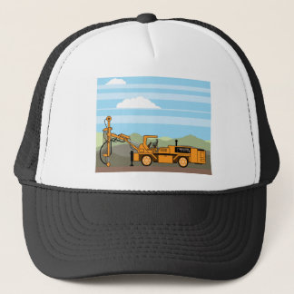 Drilling Rig Tractor Vehicle Machinery Trucker Hat