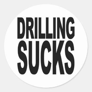 Drilling Sucks Classic Round Sticker