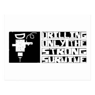Drilling Survive Postcard