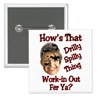 drilly spilly thing pinback button