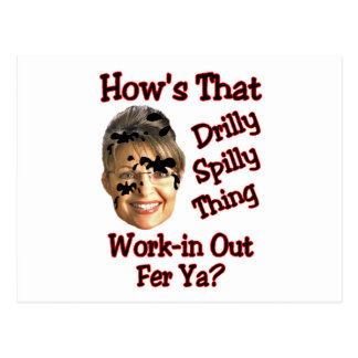 drilly spilly thing postcard