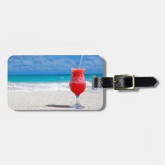 drin del Caribe del cóctel de la bebida de la Etiqueta De Equipaje