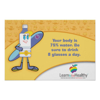Drink 8 Glasses of Water a Day Poster