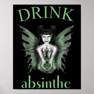 Drink Absinthe Gothic Fairy Poster