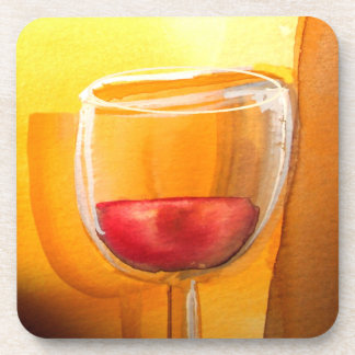 Drink and Be Merry Coasters-Wine Glass Design