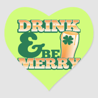 Drink and Be MERRY! from The Beer Shop Heart Sticker