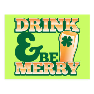 Drink and Be MERRY! from The Beer Shop Postcard