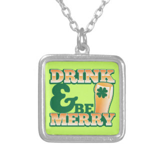Drink and Be MERRY! from The Beer Shop Silver Plated Necklace