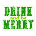 Drink and be Merry Post Cards