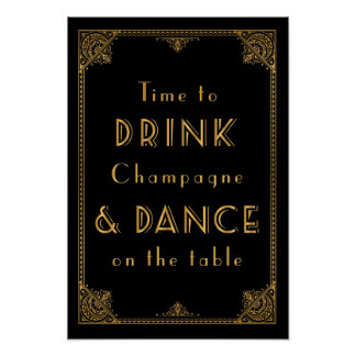 DRINK and DANCE Gatsby inspired wedding sign