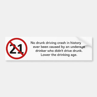 Drink and Don't Drive Bumper Sticker