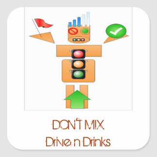 Drink and Drive Internet Traffice Square Sticker
