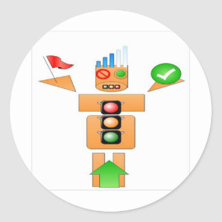 Drink and Drive Internet Traffice Round Sticker