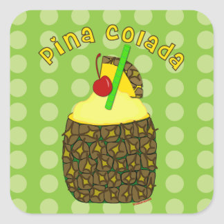 Drink Art Pina Colada Stickers