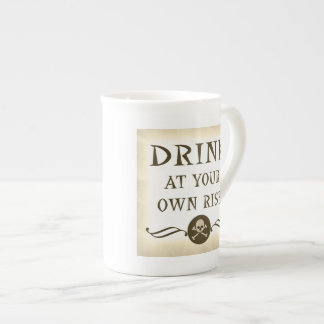 Drink At Your Own Risk Halloween Party Props Tea Cup
