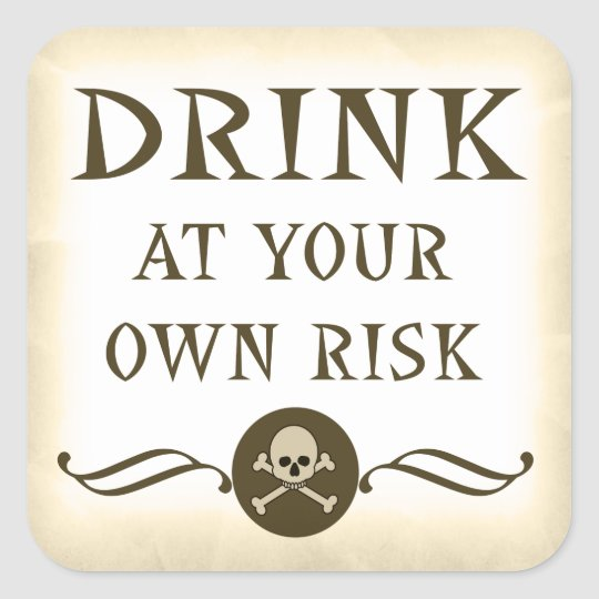 drink at your own risk halloween warning labels zazzle com
