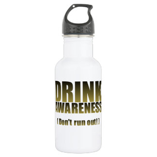 Drink Awareness Fun for all Occasion Stainless Steel Water Bottle