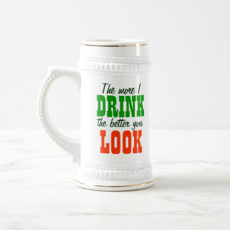 Drink Away The Ugly! 18 Oz Beer Stein