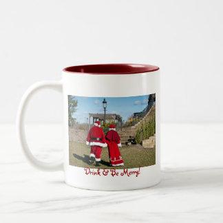 Drink & Be Merry Two-Tone Coffee Mug