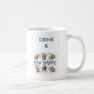 Drink & Bee Happy Coffee Mug