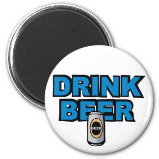 Drink Beer 2 Inch Round Magnet