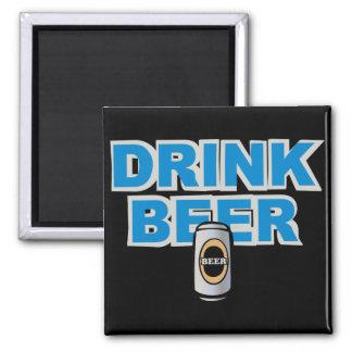 Drink Beer 2 Inch Square Magnet