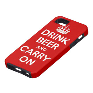 Drink beer and carry on iPhone 5 cover