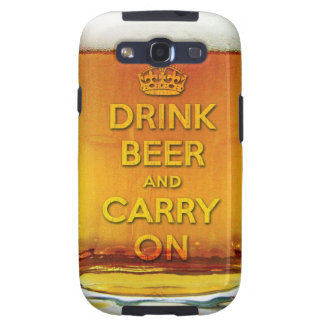 Drink beer and carry on samsung galaxy s3 covers