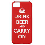 Drink beer and carry on cover for iPhone 5C