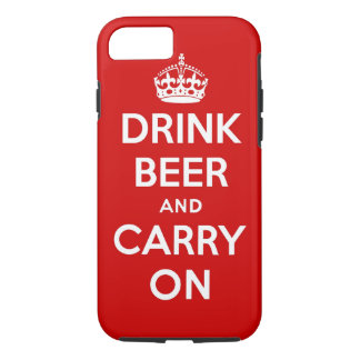 Drink beer and carry on iPhone 8/7 case