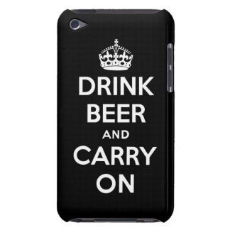 Drink beer and carry on iPod touch Case-Mate case