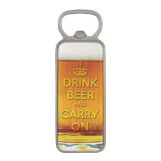 Drink beer and carry on magnetic bottle opener