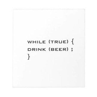 Drink beer note pad
