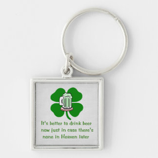 Drink Beer Now Keychain