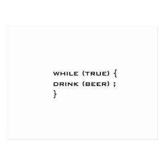 Drink beer postcard