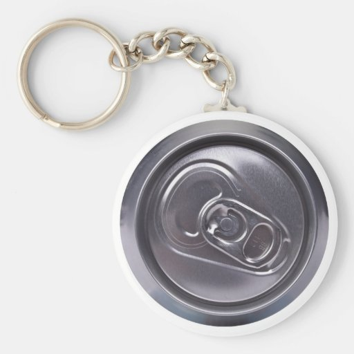 drink can - top side basic round button keychain