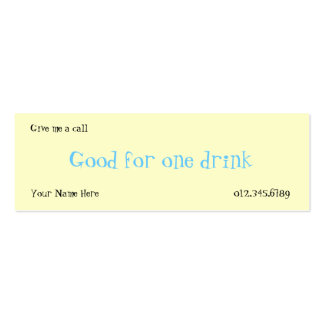 Drink Card Business Cards