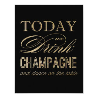 Drink Champagne and Dance on the Table Postcard