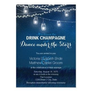 Drink Champagne Dance Under Stars Mason Jar Card