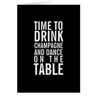 Drink Champagne Happy Birthday Funny Greeting Card