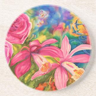 Drink Coaster Pleione Orchid