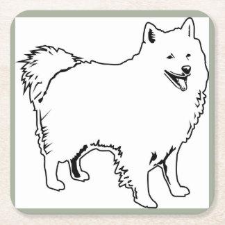 Drink Coaster with Image of American Eskimo Dog