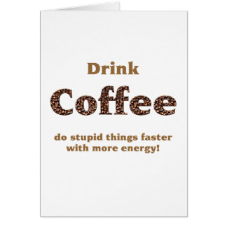 Drink coffee cards