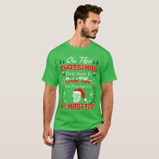 Drink Coffee Pet Mastiff Christmas Ugly Sweater