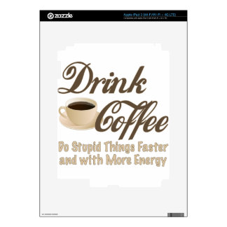 Drink Coffee Skin For iPad 3