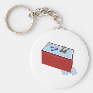 Drink Cooler Basic Round Button Keychain