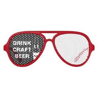 Drink Craft Beer Aviator Sunglasses