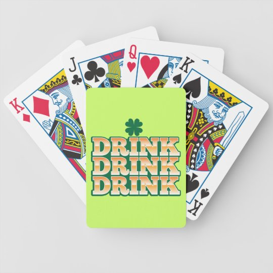DRINK DRINK DRINK  from The Beer Shop Bicycle Playing Cards